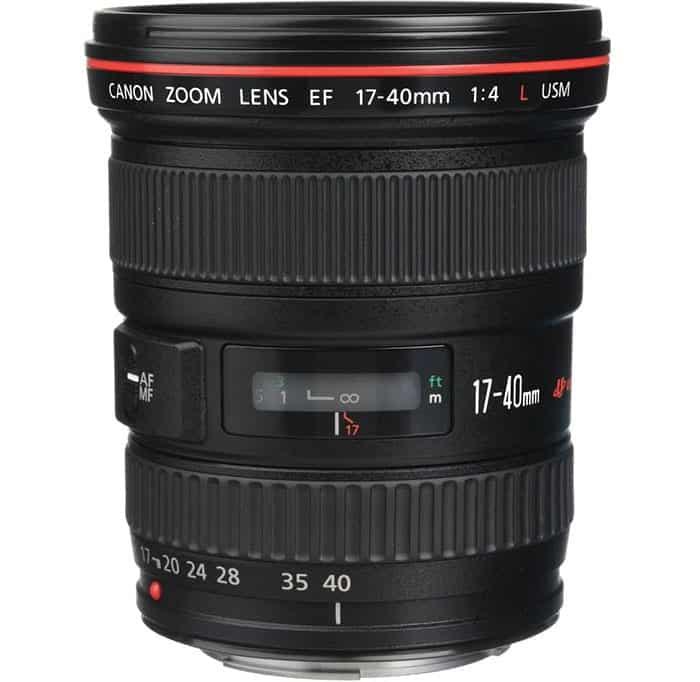 objetivo angular Canon EF 17-40mm f/4